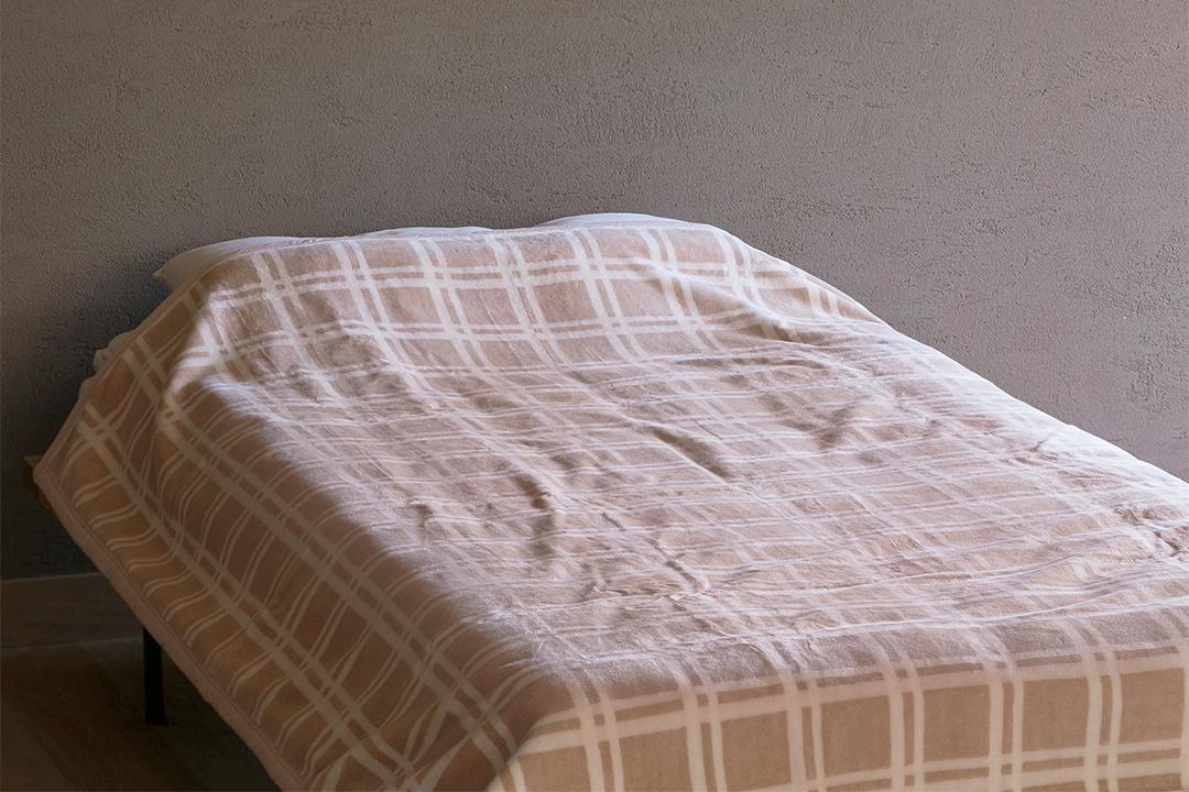 ブラウンチェック綿毛布