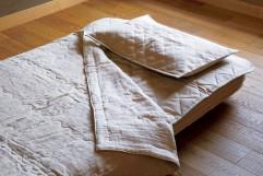 非公開: 夏おすすめ!洗える麻の寝具一式セット やわらかガーゼケット